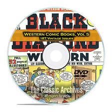 Western Comic Books, Vol 5, Black Diamond, Gunsmoke, Dead Eye Golden Age DVD D63