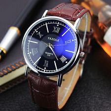 Para Hombre Reloj Unisex Cuero Acero Inoxidable Militar Reloj De Pulsera Watches