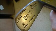 Vintage Gibson & Son Mashie from Westward Ho!  Dot Faced Forged Iron gc