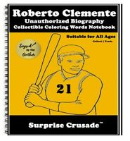 Roberto Clemente Baseball Card Sports Trading Card Notebook AUTHOR AUTOGRAPHED