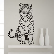Art Mural Sitting Tiger Vinyl Wall Sticker Removable Decor for Living Room