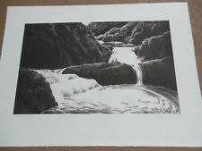 "April Gornik ""Cascading Waterfall"" Hand Signed & Numbered Beautiful Etching !!!!"