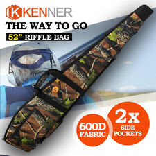 "KENNER Camo 52"" Rifle Bag Shotgun 600D Padded Gun Case Storage Hunting Shooting"