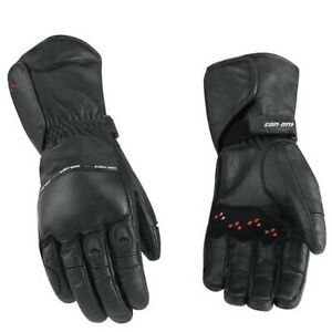 Can-Am New OEM, Spyder Men's Medium Leather 3-Season Riding Gloves, 4461770690