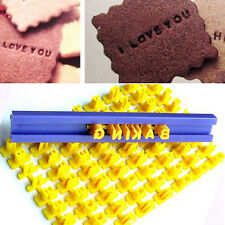 DIY Alphabet Number Letter Cookie Biscuit Stamp Cutter Embosser Cake Mould UK