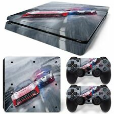 Car Racing PS4 Slim Console & 2 Controllers Decal Vinyl Art Skin Wrap Stick