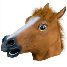 1X PVC Creepy Animal Horse Head Mask Masquerade Halloween Trick Props