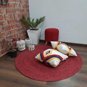 Rug 100% Natural Jute Reversible Braided Style Rug Living Modern Area Rug