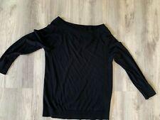 Halogen Women's Cotton Blend Light Sweater Black Sz S Petite