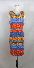 SAG HARBOR size 10/12  WOMAN'S RAYON SHEATH DRESS BLUE, RED MULTI