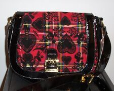 NWT BETSEY JOHNSON  CROSS BODY  *SCHOOL OF HEARTS RED *