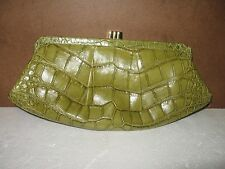 Lambertson Truex Green Alligator Clutch
