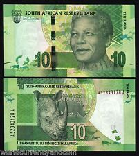 SOUTH AFRICA 10 RAND P133 A 2012 BUNDLE NOBLE MANDELA RHINO UNC 100 PCS LOT NOTE