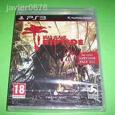 DEAD ISLAND RIPTIDE NUEVO Y PRECINTADO PAL ESPAÑA PLAYSTATION 3 PS3