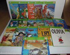 HUGE LOT OF 17 LEAPFROG TAG READER BOOKS + GREEN READING PEN! DISNEY DR SEUSS +