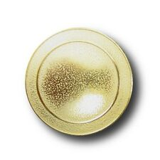 6 schlichte goldfarbene Metall Knöpfe für Uniformen (0255g-23mm)