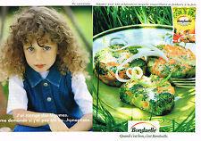 PUBLICTE  1999    BONDUELLE   surgelés  (2 pages)