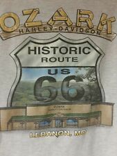 Harley Davidson  Mens Biker T-Shirt 2XL   Dealer XXL OZARK Missouri Route 66