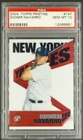 2004 Topps Pristine #147 Dioner Navarro RC Rookie Yankees PSA 10 Gem Mint Pop 2