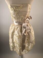 Gunne Sax Jessica McClintock VTG 90s Womens Dress Size 5  Gold Strapless Prom
