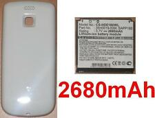 Hülle weiß + Batterie 2680mAh Für HTC Magie