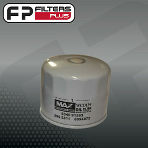 WCO139 Wesfil Oil Filter -Iveco Daily 2.3L 2003 to On 35C15 - 2995811, 504094563
