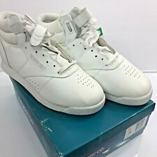 Vintage White High Top Sneakers Lace Up Hook Loop The Body Co 80s Size 11