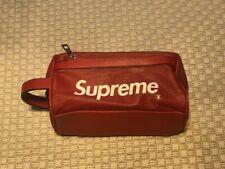 Supreme Leather Utility Bag Organizer Pouch Red Brand New Handbag