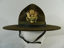 WWII US Army M1911 Campaign Hat P.J O'Hare Device Insignia S7 3XXX Beaver Sgt
