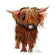 HIGHLAND COW PRINTS WaLL ART of Original Painting 'PoRRiDGe W. SHIRLEY MACARTHUR
