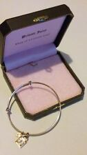 Pretty JUICY COUTURE Adjustable PAVE Padlock BANGLE/BRACELET in Original Box***