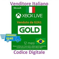 Xbox Live Gold Abbonamento 12 Mesi 1 anno  Xbox One e Xbox 360 Global