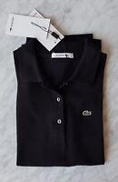 LACOSTE Polo Shirt - NEU - Gr. 40 (42 frz.) schwarz Pikée mit Etikett