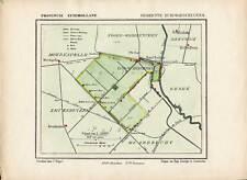 Antique Map-NETHERLANDS-TOWN PLAN-WADDINXVEEN-GEMEENTE-ZUID HOLLAND-Kuyper-1865