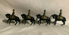 Antique Lead Toy Army Soldiers Mounted On Horseback Johillco Charbens