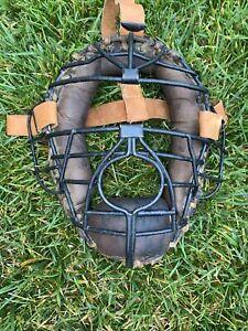 SUPER 1930's Antique OVAL Baseball Spitter Catchers Mask Original Vintage CIRCA