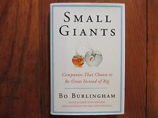 "BO   BURLINGHAM   Signed  Book (""SMALL  GIANTS""-2005  First   Edition  Hardback)"