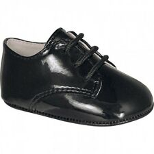 NWT Baby Deer Black Patent Dress Oxford Crib Shoes Boys 6 9 M  Size 3 Classic