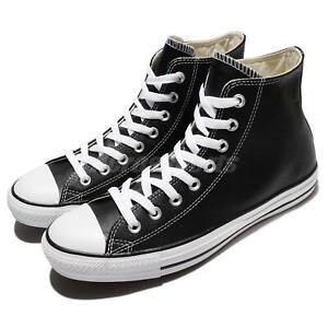 Converse Chuck Taylor All Star Hi Black Leather Men Unisex Shoes Sneaker 132170C