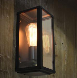 Rectangular Vintage Indoor Cage Wall  Sconce Lamp - Black for  Home, café, bar