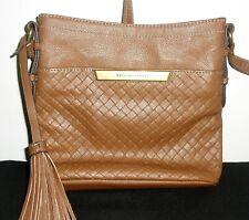 Tignanello Crossbody Leather Shoulder Handbag Brown Purse Organizer