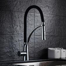 360° Herausziehbar Küchenarmatur Wasserhahn Spültischarmatur Mischbatterie Küche