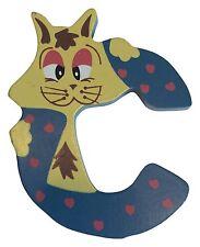 Holzbuchstabe C - Buchstabe Kinder Kinderzimmer Tier Tiermotiv Holz DEKO bunt