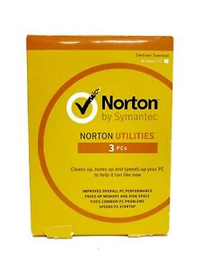 Norton Utilities for 3 Windows PCs - Electronic Download - Brand New Sealed