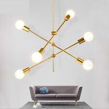 6-Light Sputnik Chandelier Modern Ceiling Pendant Hang Lamp E27 Light Gold