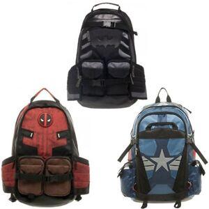 Marvel  Deadpool and Batman Laptop Backpack Good Quality