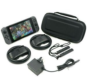 Nintendo Switch Console - V2 - Mario Kart 8 + Wheels - Good Condition - Free P&P