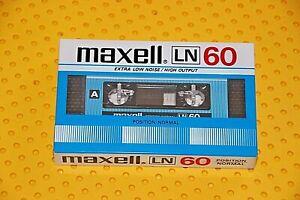 MAXELL LN   60 BLANK CASSETTE TAPE VS. II (1) (SEALED)
