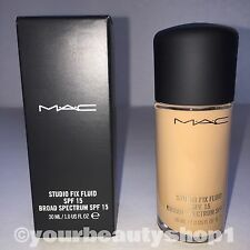 New Mac Foundation Studio Fix Fluid Foundation  SPF 15 NW25 100% Authentic