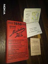 GUIDE MICHELIN ROUGE FRANCE 1938 COMPLET NEUF AVEC SON ENVELLOPPE & INSERT